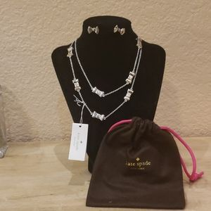 New Kate Spade earring and necklace set.